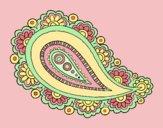 Coloring page Mandala teardrop painted byAnia