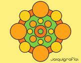 Coloring page Mandala with round painted byAnia