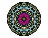 Coloring page Modernist mandala painted byPame
