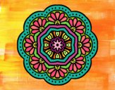 Coloring page modernist mosaic mandala painted byPame