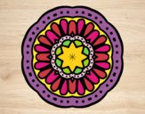 Coloring page Mosaic mandala painted byPame