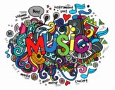 Coloring page Musical collage painted byrandol9572