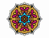 Coloring page Symmetric mandala painted byPame