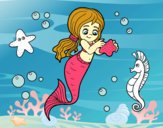 Coloring page Lovely mermaid painted byBelzabell