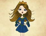 Coloring page Modern princess painted bysamg