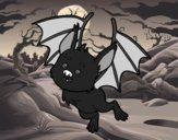 Coloring page Nice bat painted byfawnamama1