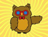 Coloring page Owl teacher painted bysamg