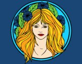 Coloring page Princess of the forest 2 painted bysamg