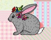 Coloring page Spring rabbit painted byalexadra