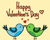 Coloring page The Valentines Day painted byAnia
