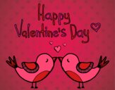 Coloring page The Valentines Day painted bysamg