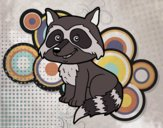 Coloring page A young raccoon painted byfawnamama1