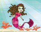Coloring page Manga mermaid painted byBelzabell