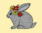 Coloring page Spring rabbit painted byAnia