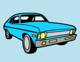 Coloring page American car painted byAnia
