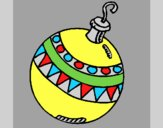 Coloring page Christmas bauble painted byAnia