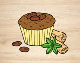 Coloring page Coffe cupcake painted byAnia
