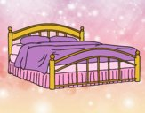 Coloring page Full-size bed painted byAnia