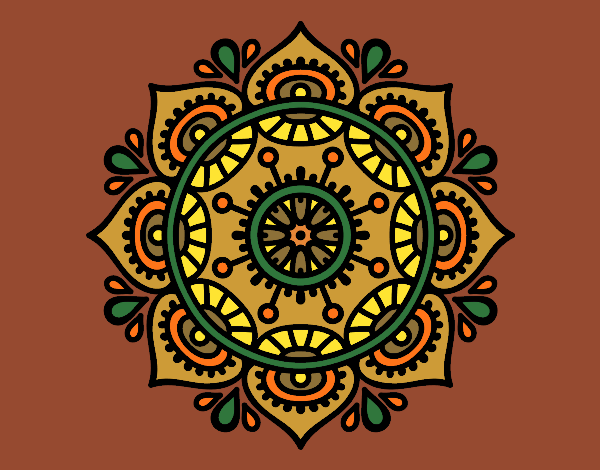 Coloring page Mandala to relax painted byKhaos006