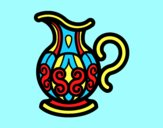 Coloring page Pitcher of water painted byAnia