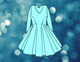 Coloring page Dress with full skirt painted byAnia