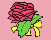 Coloring page Rose, flower painted byAnia