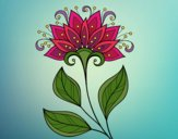 Coloring page Decorative flower painted byMaHinkle