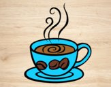 Coloring page Espresso coffee painted byAnia