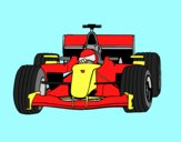 Coloring page F1 car painted byAnia