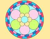Coloring page Mandala 2 painted byAnia
