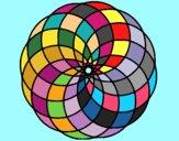 Coloring page Mandala 4 painted byAnia
