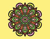 Coloring page Mandala arab world painted byAnia