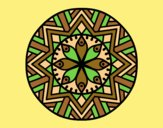 Coloring page Mandala bamboo flower painted byAnia