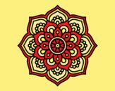 Coloring page Mandala concentration flower painted byAnia