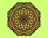 Coloring page Mandala conceptual flower painted byAnia