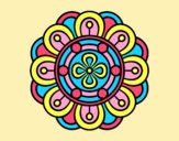 Coloring page Mandala creative flower painted byAnia