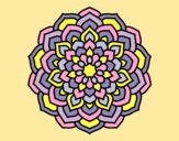 Coloring page Mandala flower petals painted byAnia