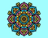 Coloring page Mandala for mental concentration painted byAnia