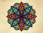 Coloring page Mandala for the concentration painted byPatrick