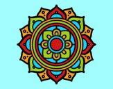 Coloring page Mandala greek mosaic painted byAnia