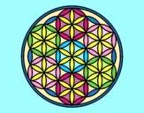 Coloring page Mandala lifebloom painted byAnia