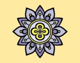 Coloring page Mandala lotus flower painted byAnia