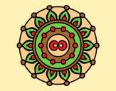 Coloring page Mandala meditation painted byAnia