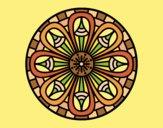Coloring page Mandala pencils painted byAnia