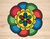 Coloring page Mandala petals painted byPatrick