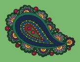 Coloring page Mandala teardrop painted byMaHinkle