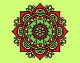 Coloring page Mandala to relax painted byAnia