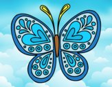Coloring page Butterfly mandala painted byAnia