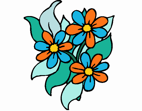 Coloring page Little flowers painted byKhaos006