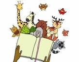 Coloring page A tale of animals painted bymicheleof4
